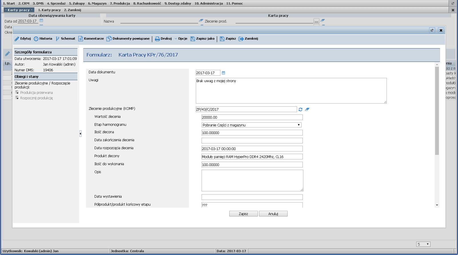 5cb5af73faad0b Formularz online Karty pracy